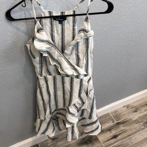 Lulus black and white summer dress